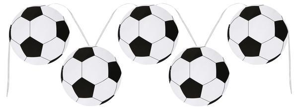 Paris Dekorace Girlanda papírová Fotbal
