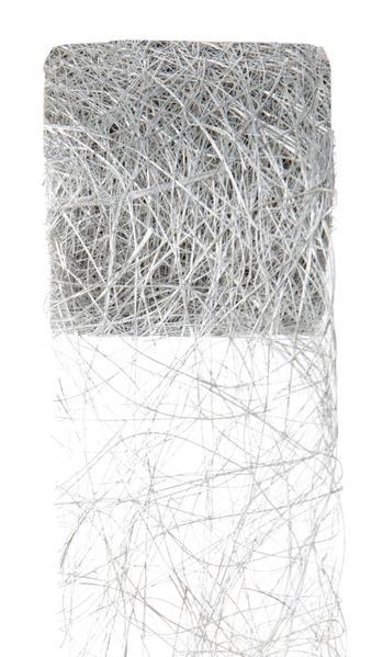 Paris Dekorace Stuha stříbrná z kokos. vláken 70mm/5m