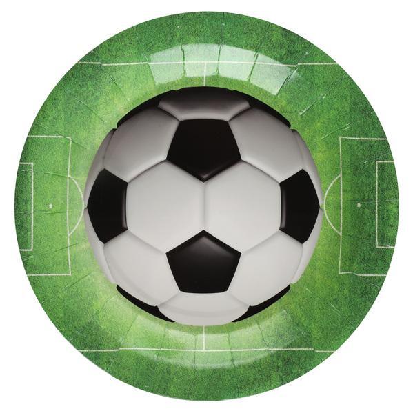 Paris Dekorace Papírové talířky fotbal, 10 ks