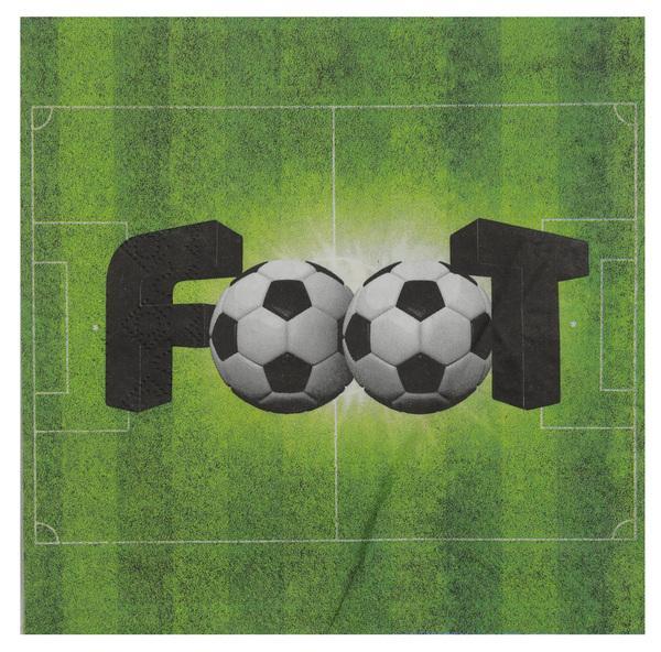 Paris Dekorace Ubrousky fotbal, 20ks