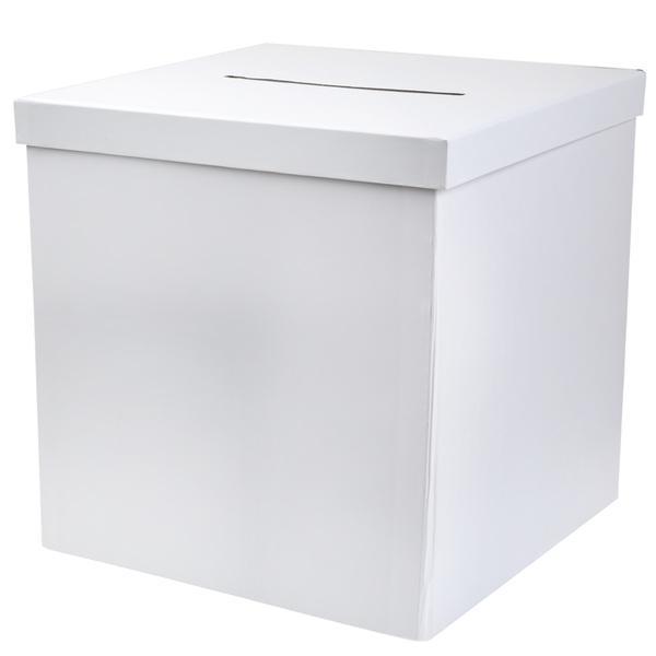 Paris Dekorace Dárková bílá krabice na obálky