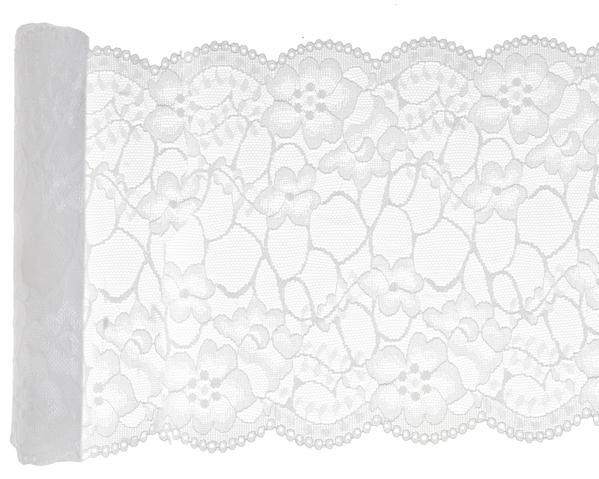 Paris Dekorace Krajka na stůl bílá 3mx18cm