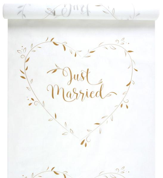 Paris Dekorace Koberec se zlatým nápisem Just Married