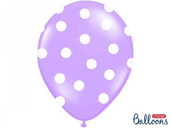 Paris Dekorace Svatební balonky 30cm lila/bílý puntík