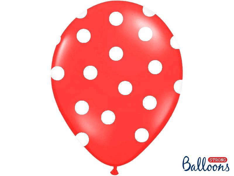 Paris Dekorace Balonky puntík Pastel červená/bílá