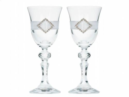 Paris Dekorace skleničky na vodku se stříbrnou aplikací