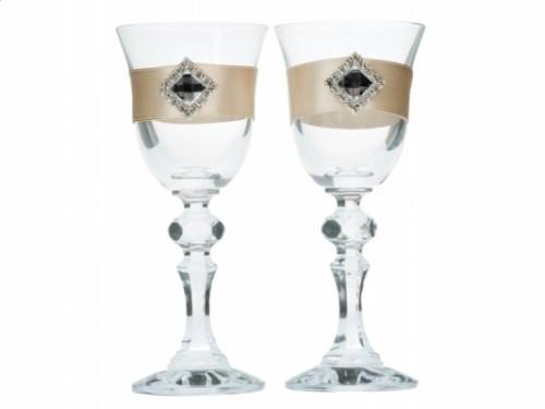 Paris Dekorace Svatební skleničky 2ks zlatá kolekce