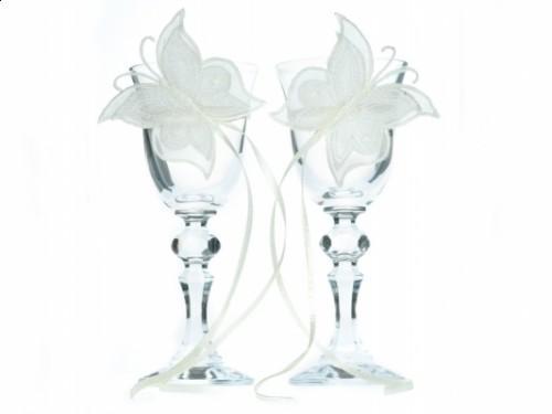 Paris Dekorace skleničky na vodku s motivem motýl
