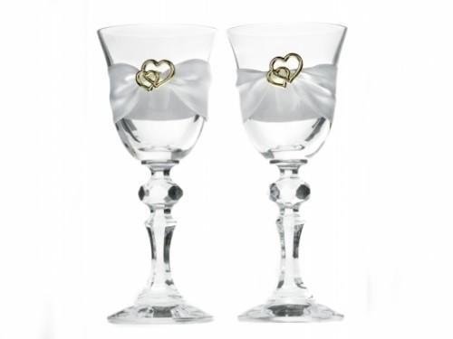Paris Dekorace skleničky na vodku se zlatým dekorem