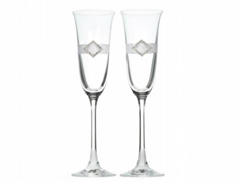 Paris Dekorace skleničky na šampaňské stříbrná