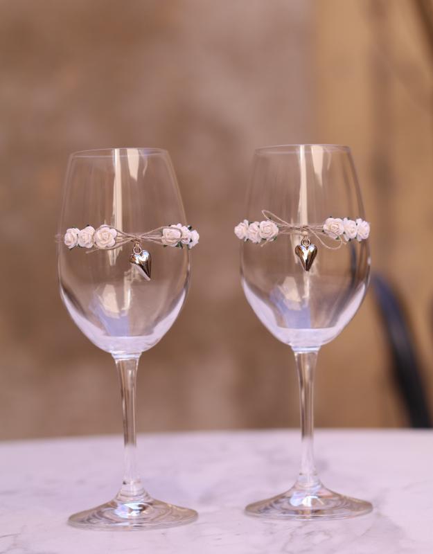 Paris Dekorace Skleničky na víno 2,  2ks