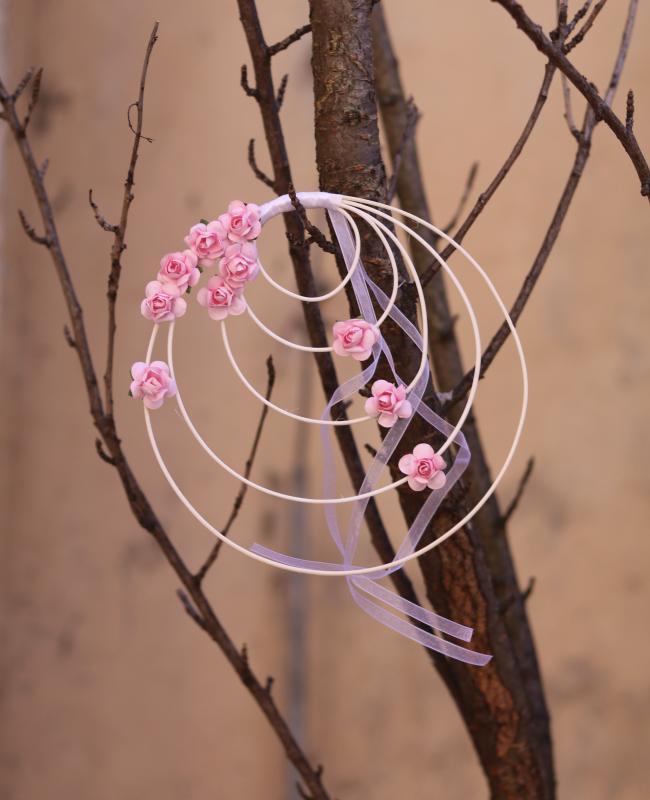 Paris Dekorace Ratanové věnečky růže  lila