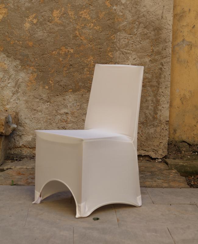 Paris Dekorace Potah na židle elastický ivory s otvorem