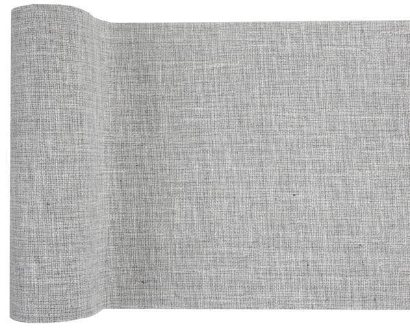 Paris Dekorace Stolová látková šerpa, šedá 28 cm x 3 m