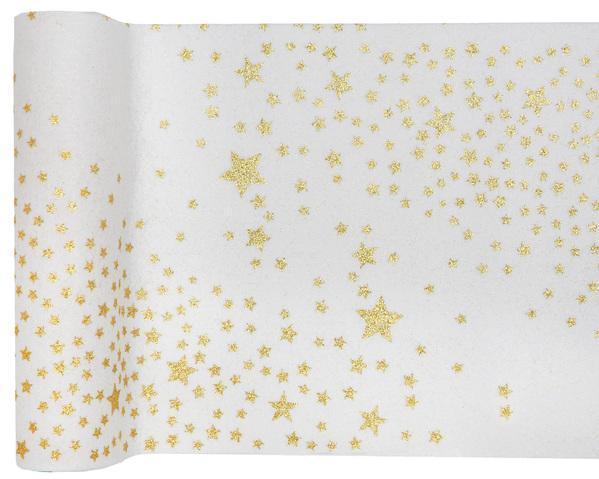 Paris Dekorace Šerpa stolová Mléčná dráha bílá  3 m