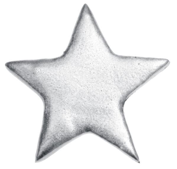 Paris Dekorace Dekorační metalické stříbrné hvězdy 6ks, 5 x 5 cm