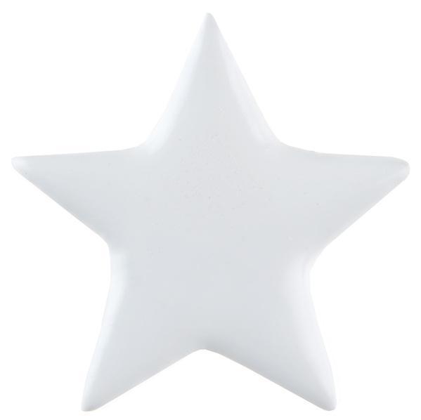 Paris Dekorace Dekorační metalické bílé hvězdy 6 ks, 5 x 5 cm