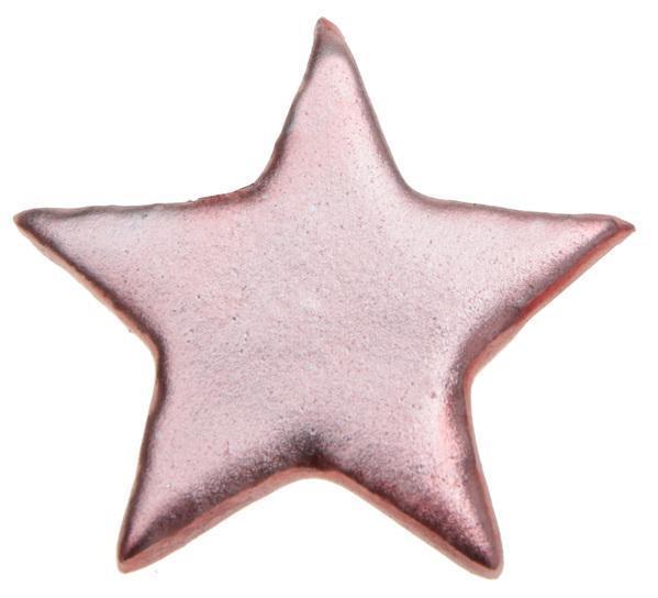 Paris Dekorace Dekorační metalické růžové hvězdy 6 ks, 5 x 5 cm