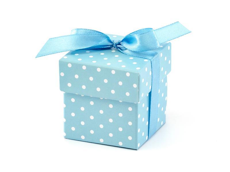 Paris Dekorace Krabička modrá s víčkem a stužkou