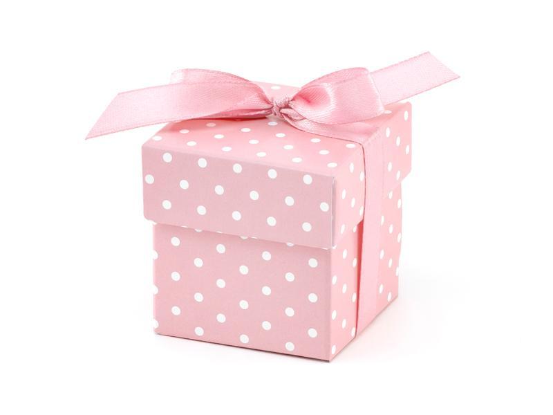 Paris Dekorace Krabička růžová s víčkem a stužkou