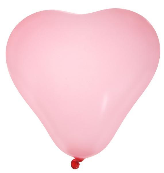 Paris Dekorace Balónky srdce růžové 8ks
