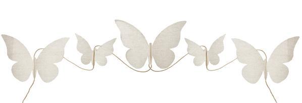 Paris Dekorace Girlanda motýlci 150 cm
