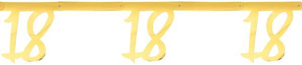 """Paris Dekorace Girlanda zlatá """"18"""" 2,5m"""