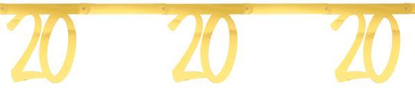 """Paris Dekorace Girlanda zlatá """"20""""  2,5 m"""