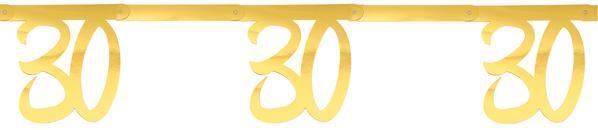 """Paris Dekorace Girlanda zlatá """"30"""" 2,5 m"""