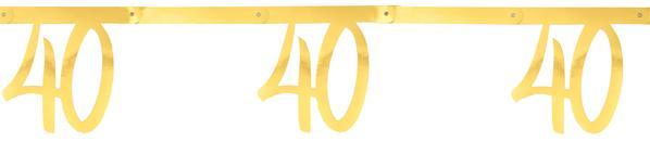 """Paris Dekorace Girlanda zlatá """"40"""" 2,5 m"""