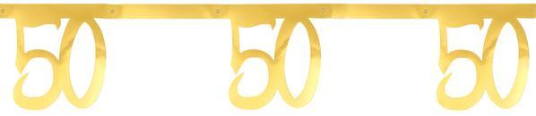 """Paris Dekorace Girlanda zlatá """"50"""" 2,5 m"""