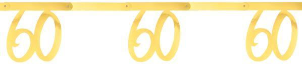 """Paris Dekorace Girlanda zlatá """"60"""" 2,5 m"""