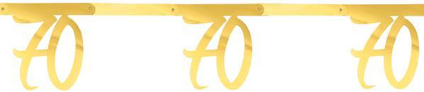 """Paris Dekorace Girlanda zlatá """"70"""" 2,5 m"""