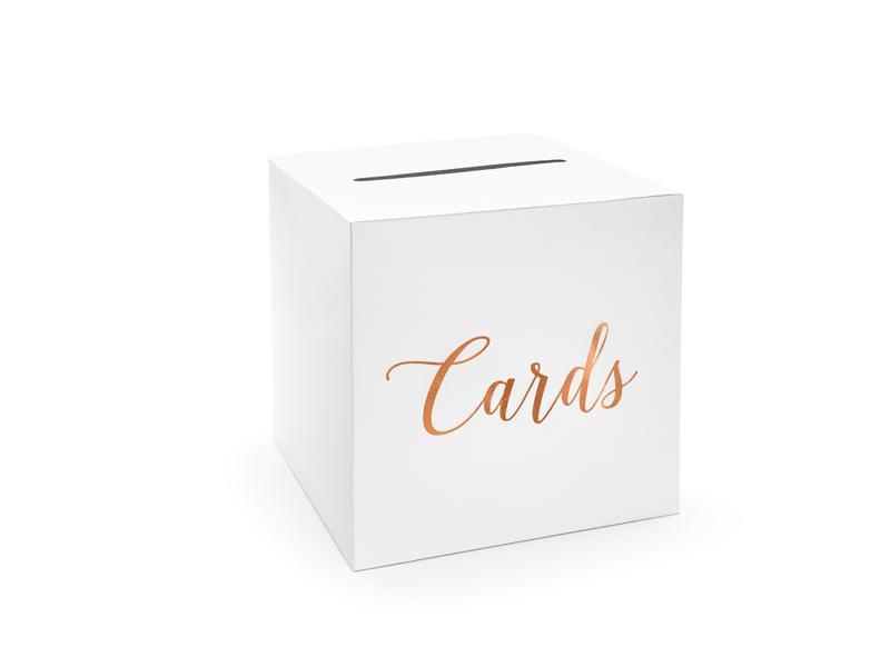 Paris Dekorace Svatební box na přání s růžovo - zlatým nápisem