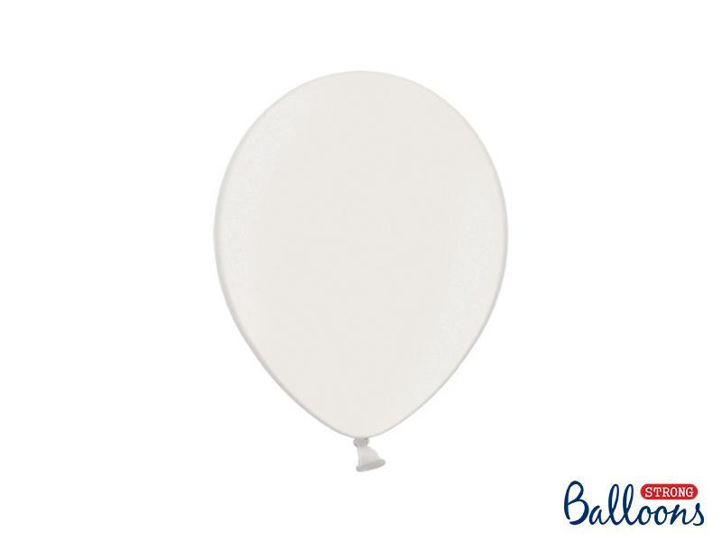 Paris Dekorace Balónek metalický bílý, 27 cm