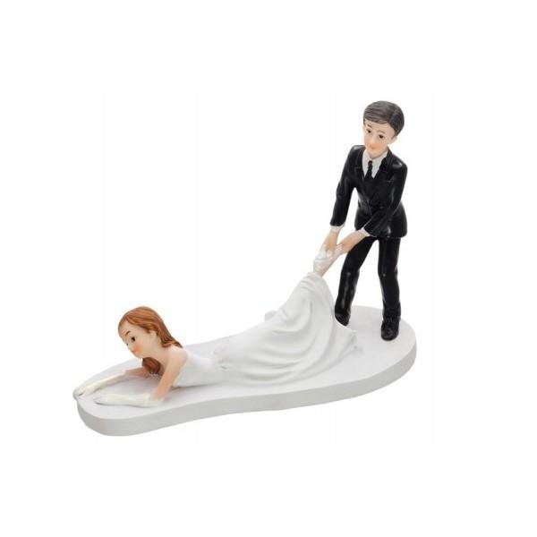 Paris Dekorace Svatební figurky ležící nevěsta