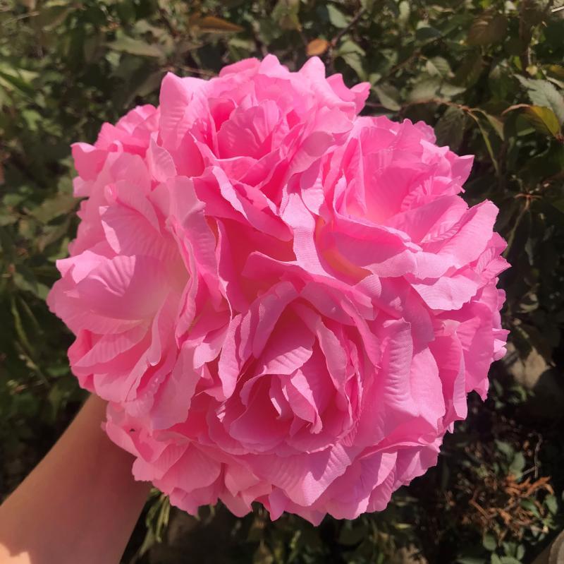 Paris Dekorace Koule z květů, růžová, 21 cm