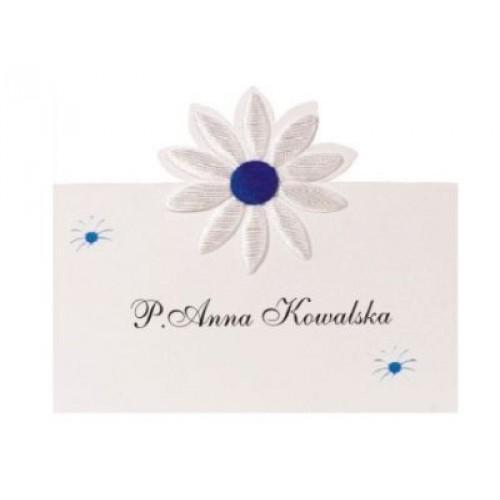 Paris Dekorace Svatební jmenovky na stůl, s kytičkou