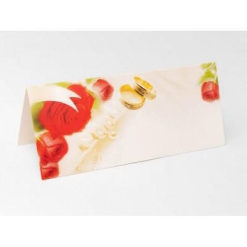 Paris Dekorace Svatební jmenovky na stůl s motivem růžiček
