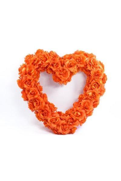 Paris Dekorace Srdce pomerančové