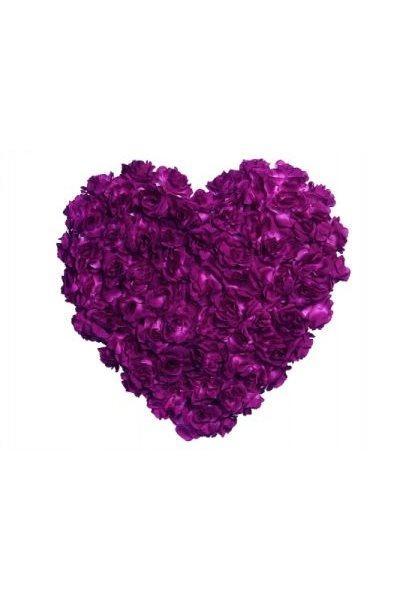 Paris Dekorace Srdce plné  fialové