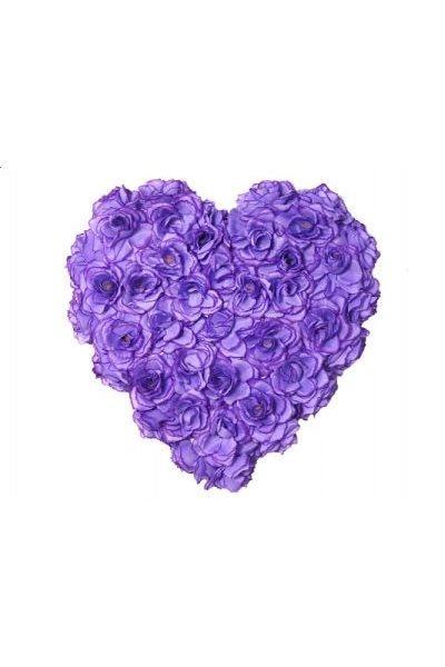 Paris Dekorace Srdce plné sv. fialové