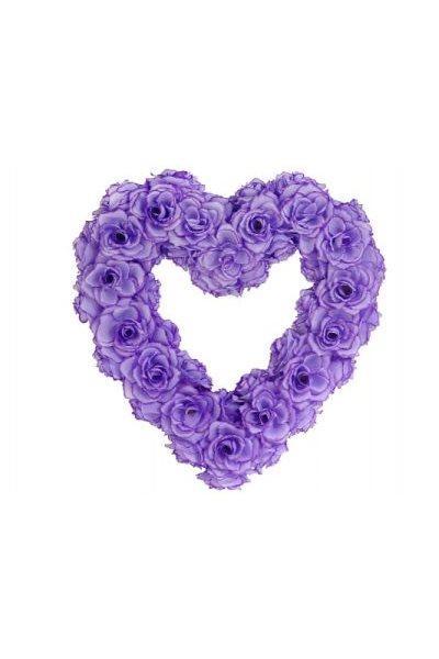 Paris Dekorace Ozdoba na auto srdce prázdné, 40cm, lila