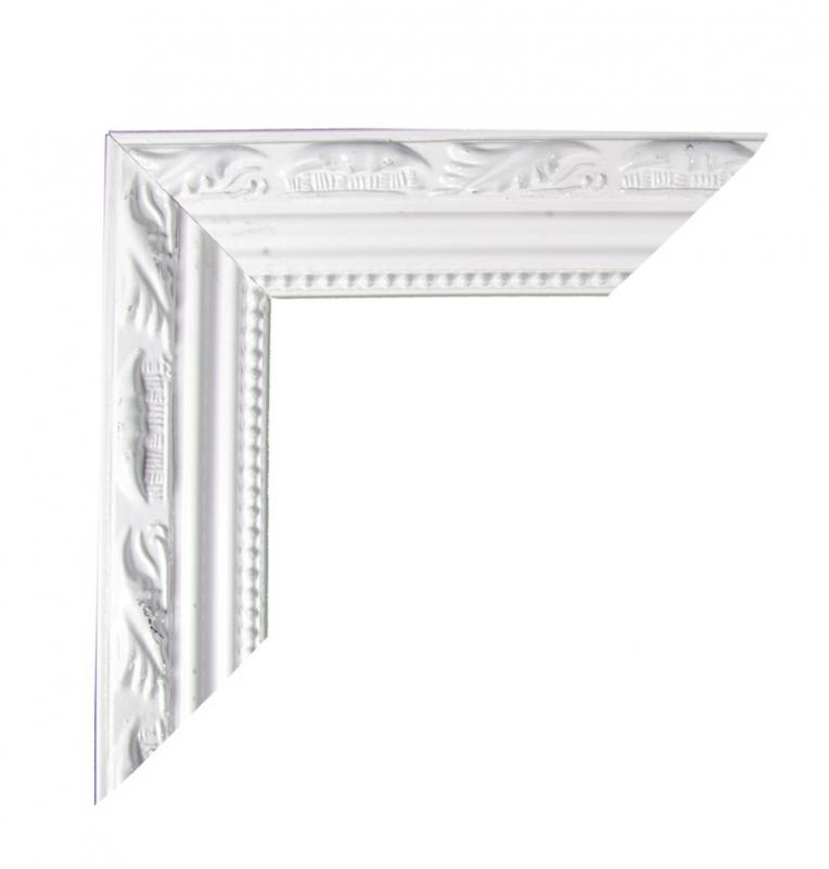 Paris Dekorace Dřevěný bílý rám do fotokoutku