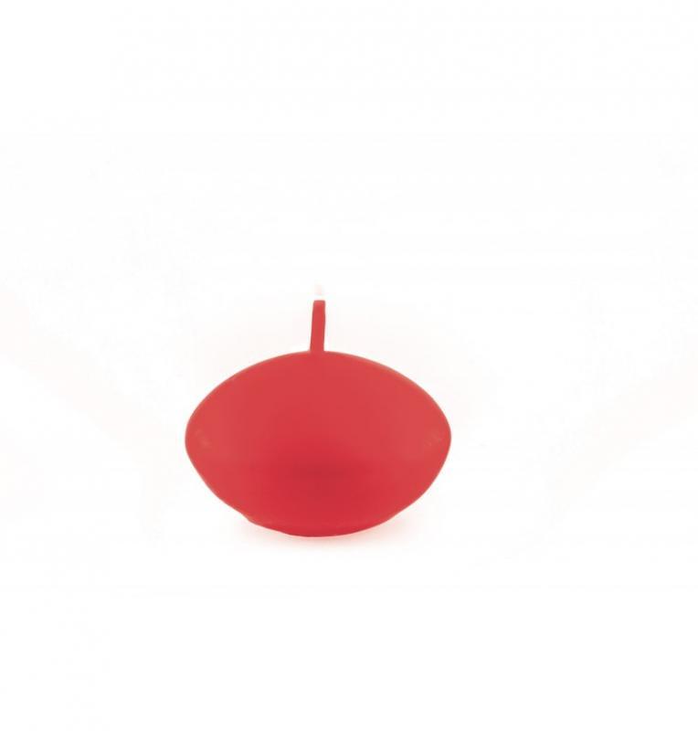 Paris Dekorace Plovoucí svíčka matná červená, 6 ks