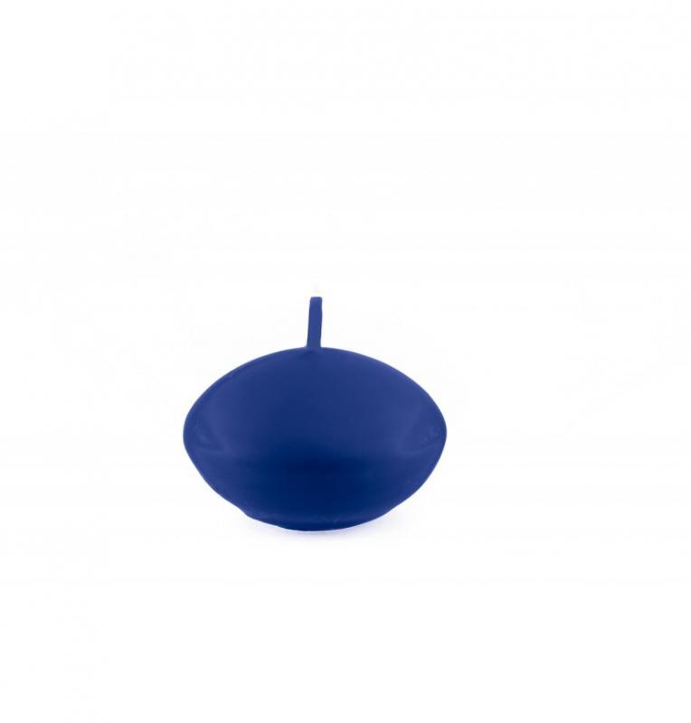 Paris Dekorace Plovoucí svíčka matná tm. modrá, 6 ks