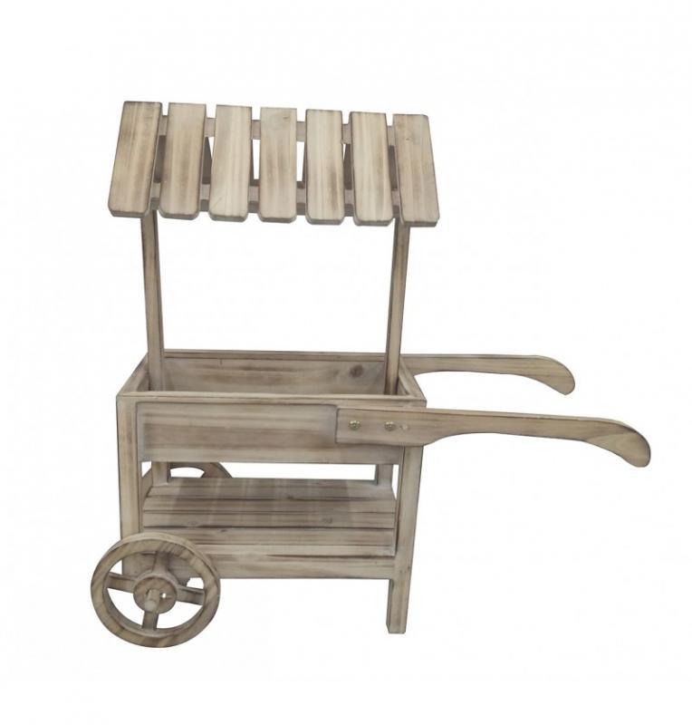 Paris Dekorace Malý dřevěný vozík
