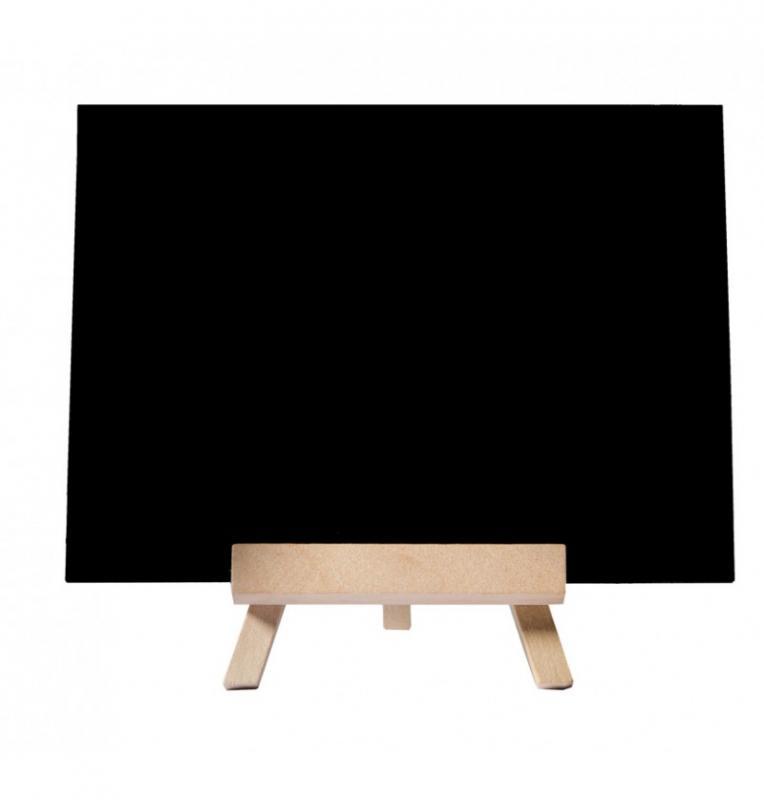 Paris Dekorace Dřevěná tabulka na stojánku, 14 x 10 cm