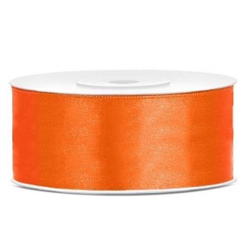 Paris Dekorace Saténová stuha oranžová, 25mm/25m