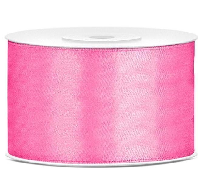 Paris Dekorace Saténová stuha růžová 50mm/25m